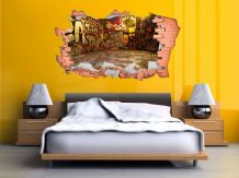 FULL COLOUR Graffiti Wall Art, Modern Transfer, PVC Decal, 3D Window, Sticker